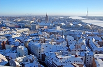 Riga Latvia in winter