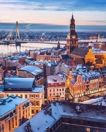 Riga Latvia - stunning in the summer but an absolute wonderland in the winter