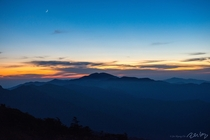 Right after the sunset from the top of Jirisan in South Korea I took this picture preparing dinner at the shelter on the ridge of the mountain