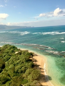 Right before landing at Kahului Airport In Maui Hawaii