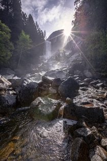 Right place right time Sunrise over Vernal Fall Yosemite National Park