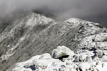 Rime ice glazes over every exposed surface on Franconia Ridge NH The clouds only broke apart for  minutes so Im feeling fortunate to have seen this view