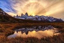 Ring of Fire  Fitz Roy Patagonia Argentina - by Matthias MH Huber