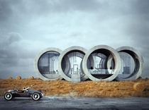 Ringshouse designed by Karina Wiciak and inspired by the Audi logo