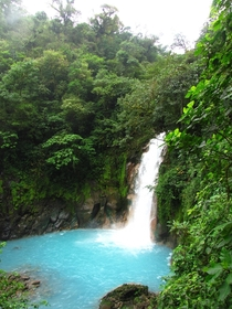 Rio Celeste Waterfall Costa Rica