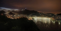 Rio de Janeiro at Night from Morro da Urca  by Francisco Marty