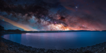 Rise A time-lapse blend of sunset and the night sky taken from the Quabbin Reservoir in Western MA