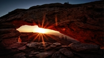 Rise and shine - The breathtaking Mesa Arch Canyonlands National Park Utah  Photo by Lena und Benedikt Herwig