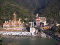 Rishikesh across the river India