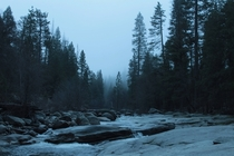 River in Yosemite at dawn  x