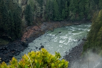 River just below Snoqualmie Falls in Washington State