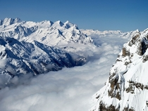 River of Clouds View from the summit of Mt Titlis - Engelberg Switzerland