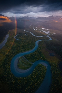 River Snake Swedish Lapland  by marcograssiphotography