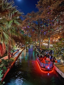 River Walk at night in San Antonio TX