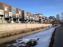 Riverside apartments along Colorado Front Range Trail - Denver CO