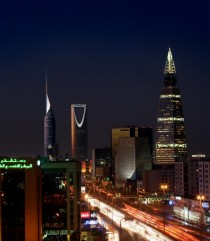 Riyadh Capital of Saudi Arabia by nighttime