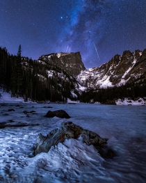 RMNP Hallett Peak Unicorn Meteor Shower Krispy