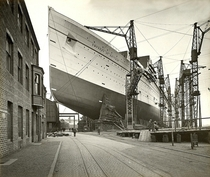 RMS Empress of Britain under construction