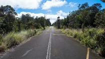 Road abandoned after an earthquake Hawaii Volcanoes National Park