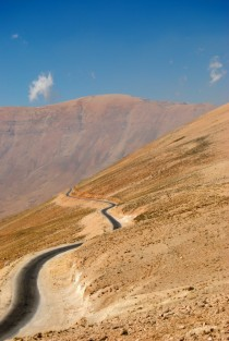 Road from Baalbek to Bcharre in Lebanon