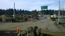 Road sign no longer needed due to road realignment Bothell WA
