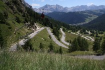 Road to Passo Gardena in Italy