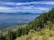 Road trip stop at Samish Overlook at Oyster Dome in Washington