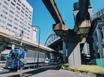 Roads and Tracks and Monorails in Minato-ku Tokyo
