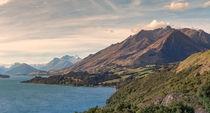 Roadside View of Lake Wakatipu New Zealand