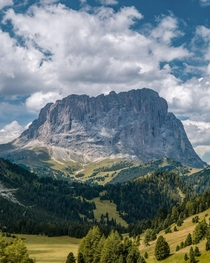Roadside views on a drive through the Dolomites