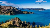 Robin Hood Bay and Port Underwood Marlborough Sounds New Zealand