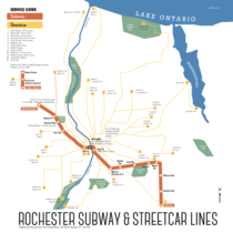 Rochester NY is the only city that ever built operated and then abandoned its subway system I drew a map of the subway system in