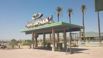 Rock-A-Hoola aka Lake Dolores Waterpark entrance in the Mojave Desert - I stumbled upon this abandoned waterpark during a roadtrip a few years ago