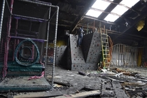 Rock Climbing in a Fire Damaged Abandoned Fun Zone