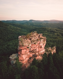 Rock formation in Rhineland-Palatinate Germany   nicoshoot