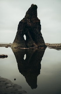 Rock formation on Ruby Beach Oregon Coast