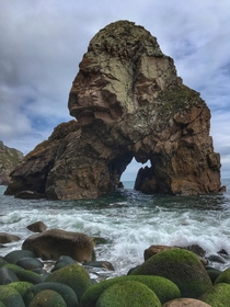 Rock formations around Cabo da Roca the most western point in Europe