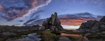 Rock formations in the Snowy Mountains NSW  Photo by Timothy Poulton xpost from rAustraliaPics