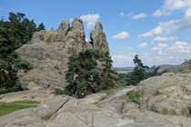 Rock formations of Teufelsmauer Timmenrode Germany