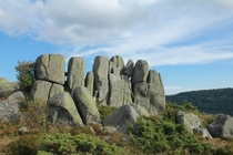 Rock formations on the Steinberg - Vosges mountains France