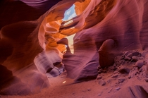 Rock shaped like an eagles head in Antelope Canyon Arizona