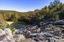 Rocky Falls Missouri in Autumn