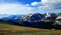 Rocky Mountain National Park CO - View from Above Treeline on Trail Ridge Road