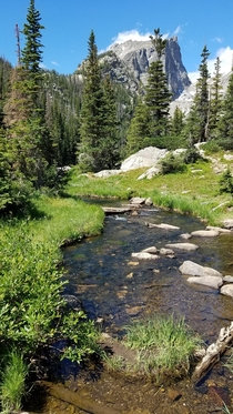 Rocky Mountain National Park in Colorado USA From about a week ago on the way to Emerald Lake Such a beautiful place to camp and hike  x
