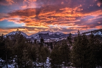 Rocky Mountain Sunset Dillon Colorado