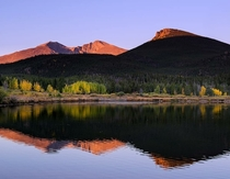 ROCKY Mountains Early Morning at Lily Lake Estes ParkCO