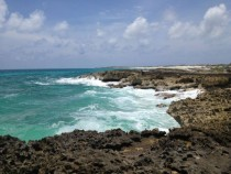 Rocky shore in Cozumel Mexico