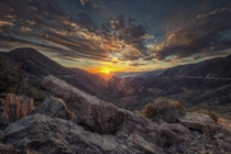 Rocky Valley SunsetSan Gabriel Mountains California  by Mike Hathenbruck