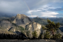 Rode out a summer hail storm and got a little reward in Yosemite