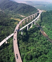 Rodovia dos Imigrantes Immigrants Highway Brazil It joins So Paulo the largest city in in the country to Santos a city that contains the largest port in Latin America